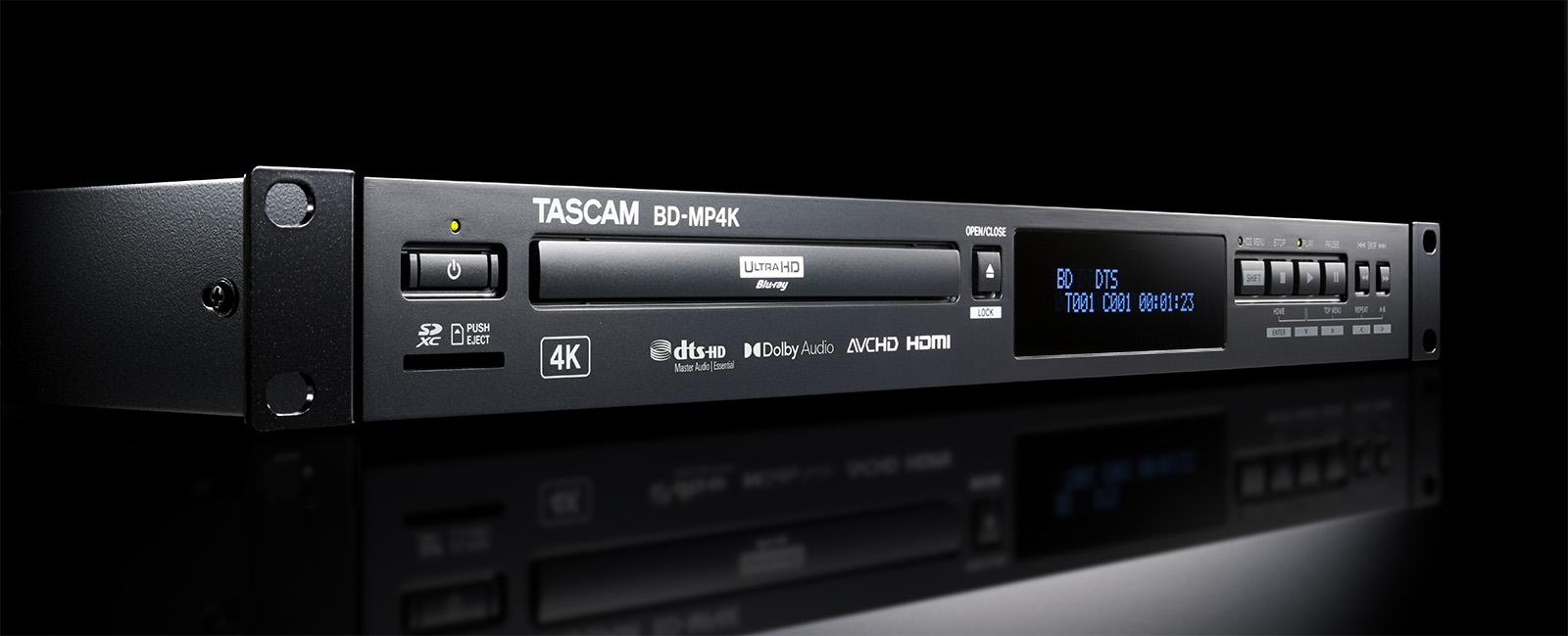 Nuevo reproductor de Blu-ray 4K UHD, te presentamos el BD-MP4K de Tascam