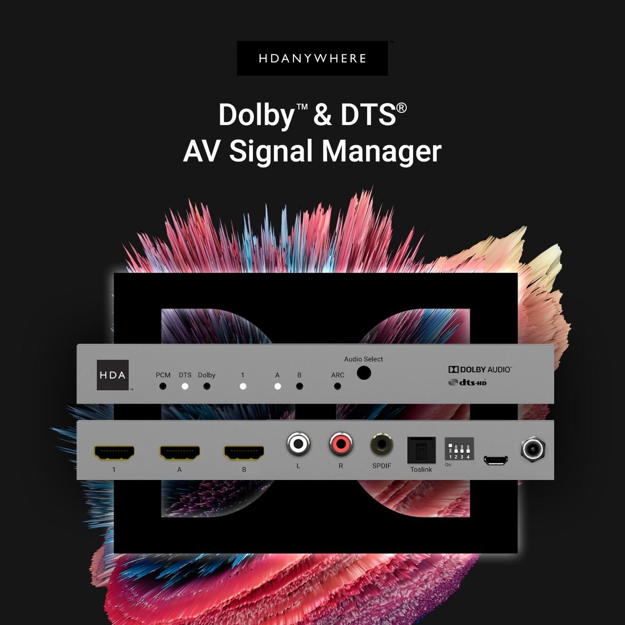 ¿Para qué sirve un gestor de señales Dolby y DTS?