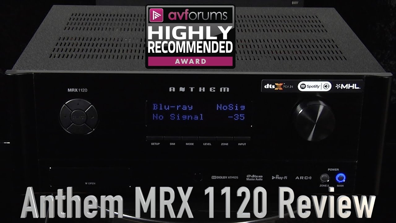 El mejor receptor surround AV del mundo tiene nombre: MRX-1120 y apellido: Anthem AV
